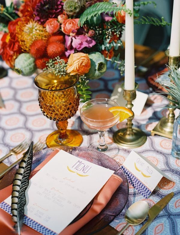 Imaginative wedding table setting ideas