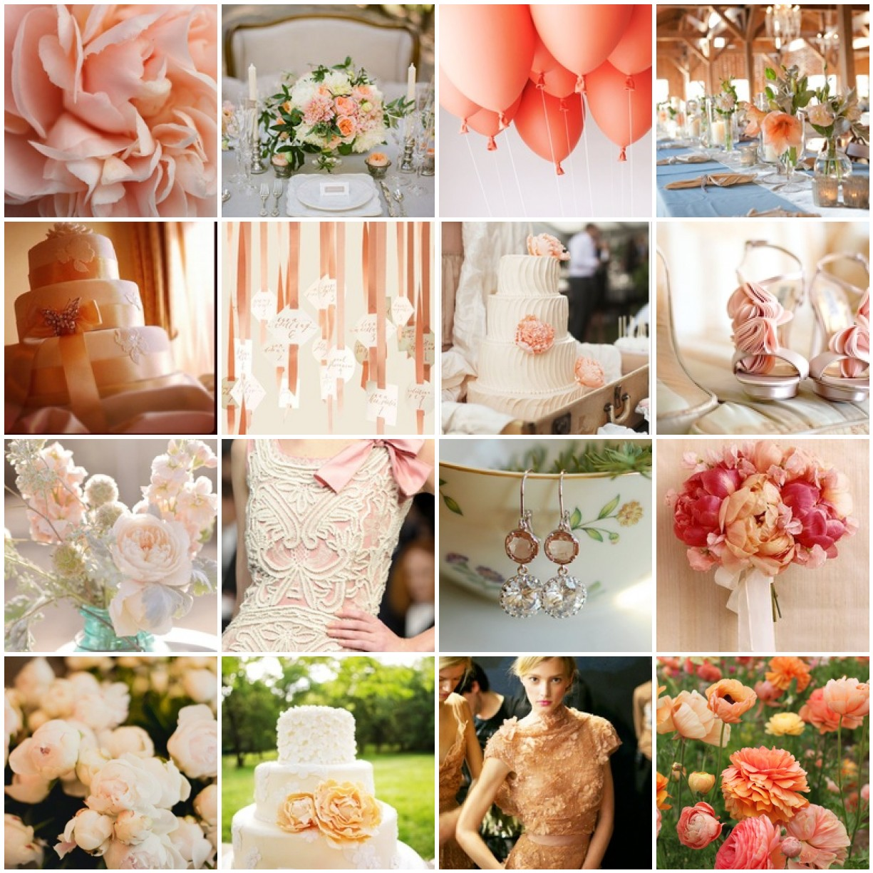 Peach Colour Themed Wedding