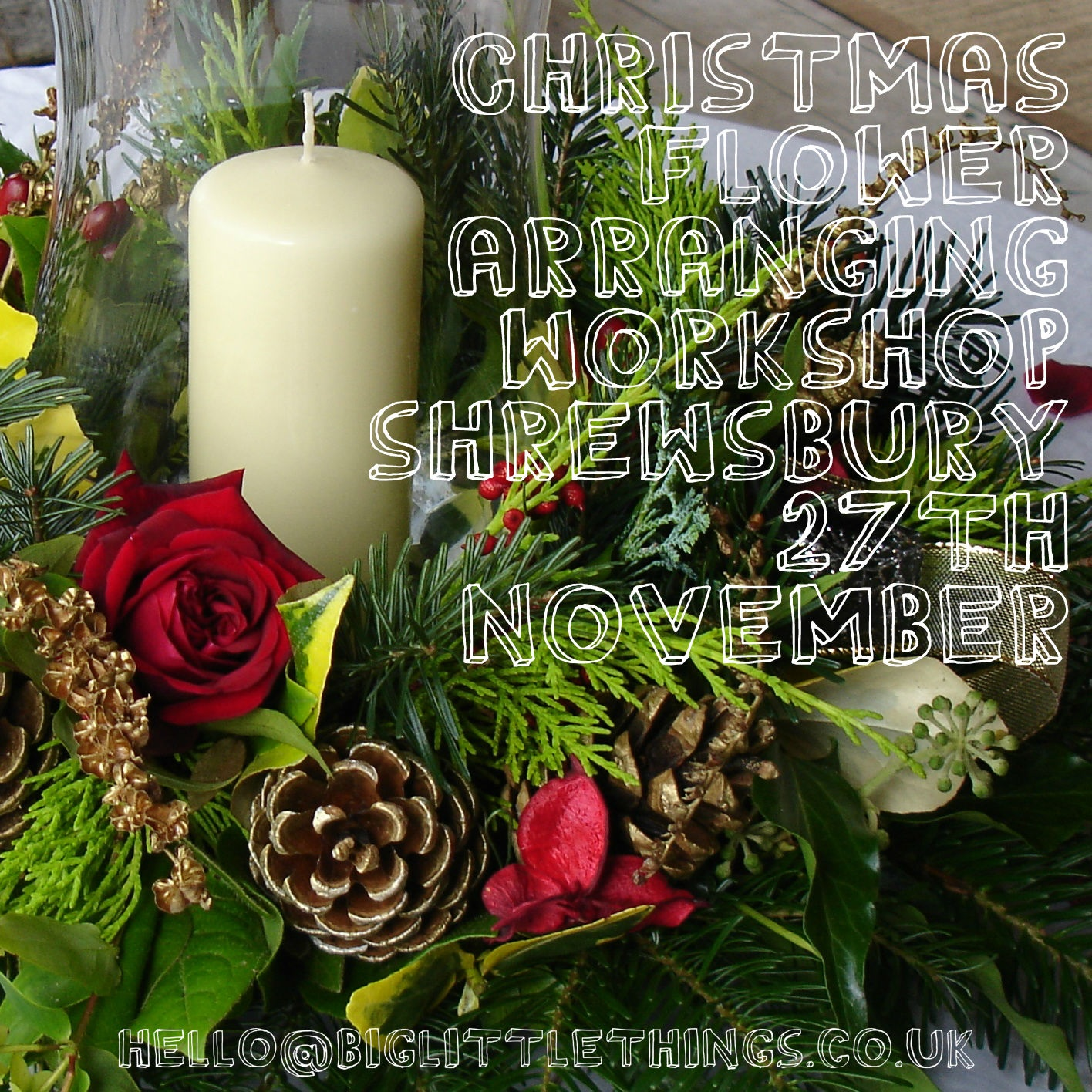 Christmas flower arranging workshops 2014