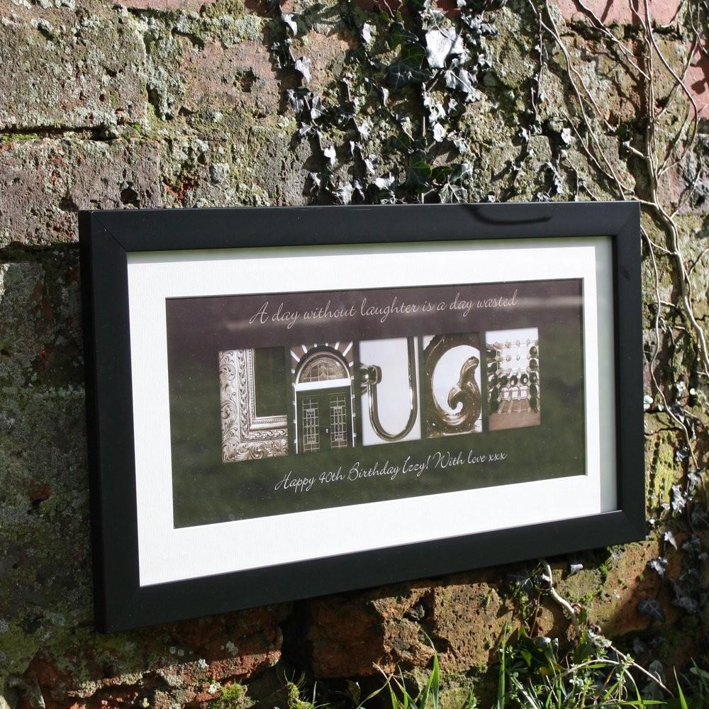 Personalised framed art, £39.95.