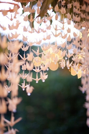 Wedding ideas: origami decor