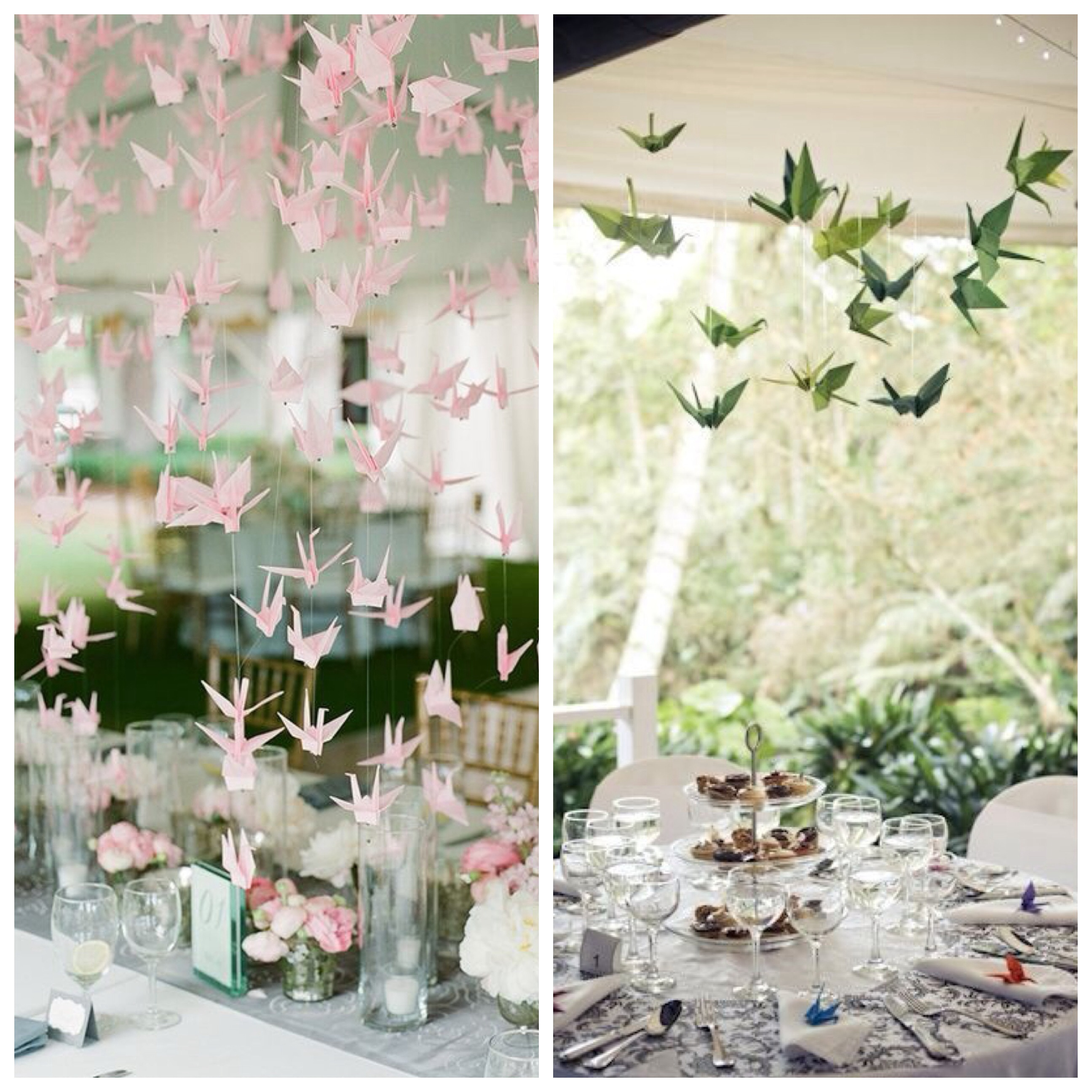 Wedding ideas origami decor big little things paper cranes as wedding decoration junglespirit Images