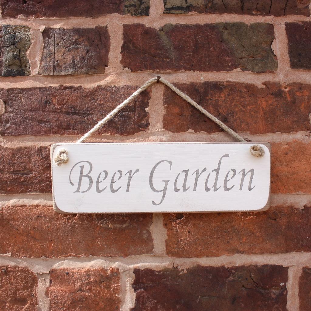 Beer Garden Hanging Sign