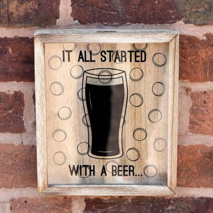 Beer Cap Boxed Frame