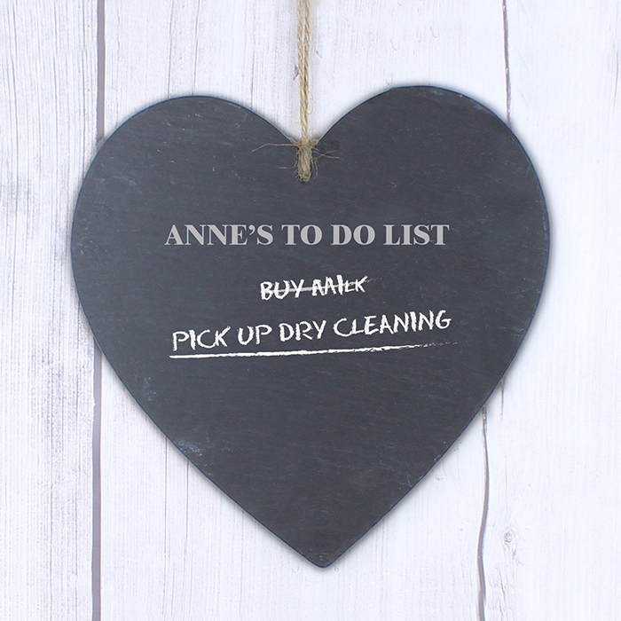Chalk Board Large Heart Slate