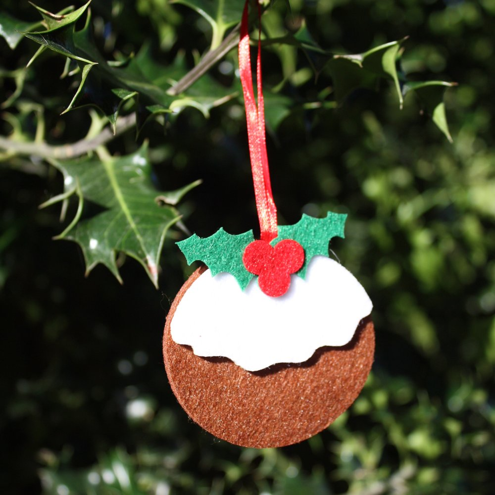 Festive Felt Christmas Pudding Decoration