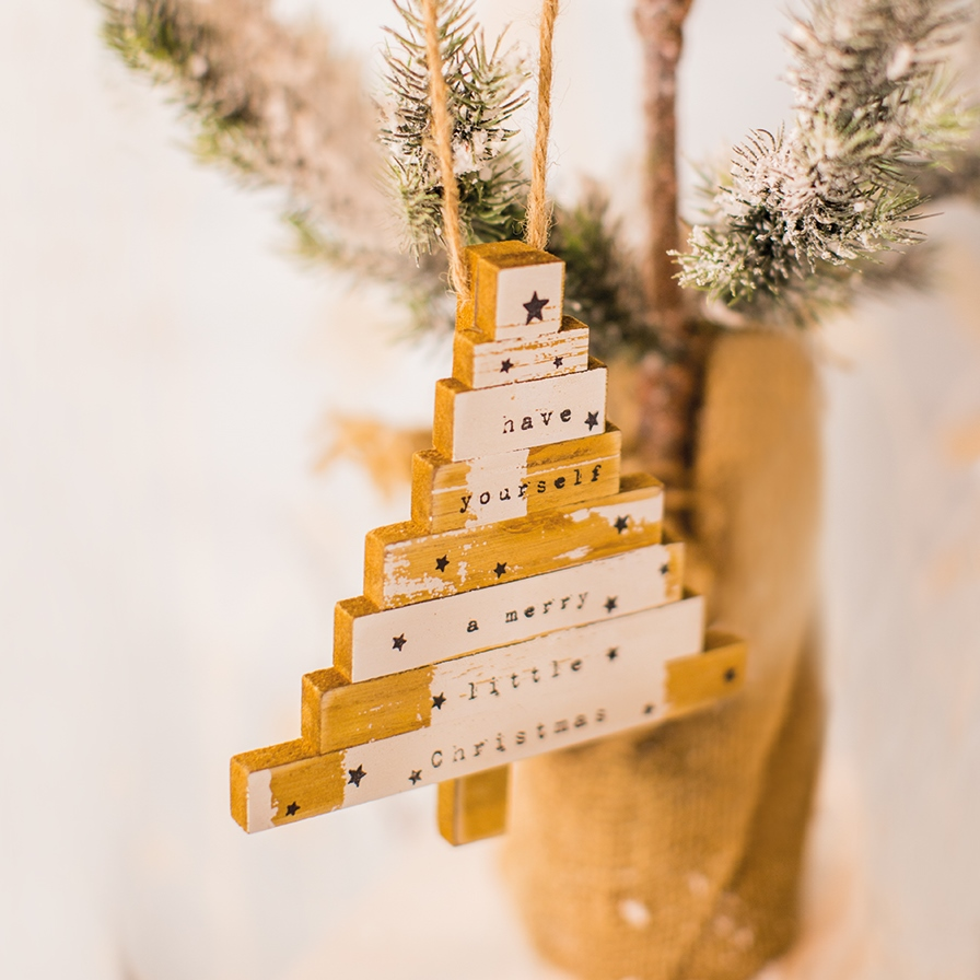 Hanging Wooden Tree Decorations