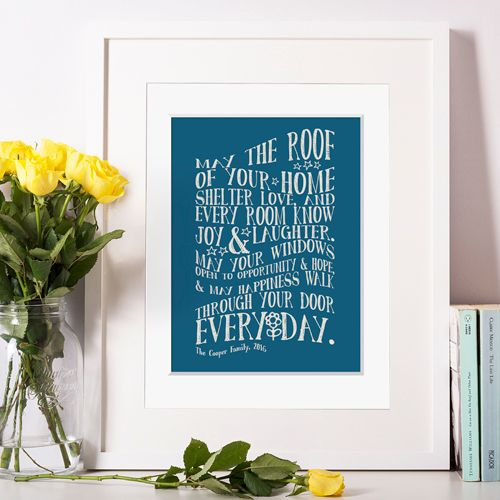 Personalised New Home Prints
