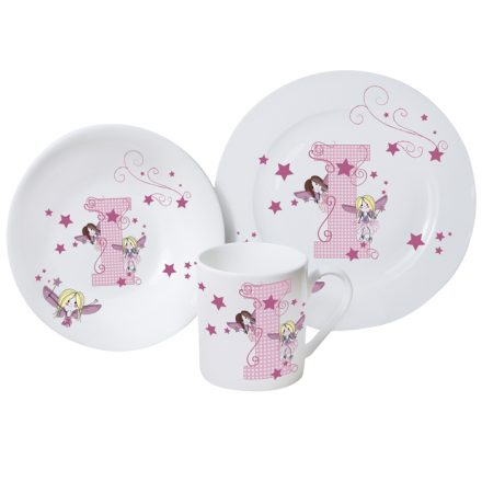 Fairy Letter Girls Breakfast Set