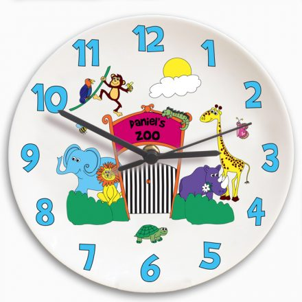 Personalised Kids Zoo Clock