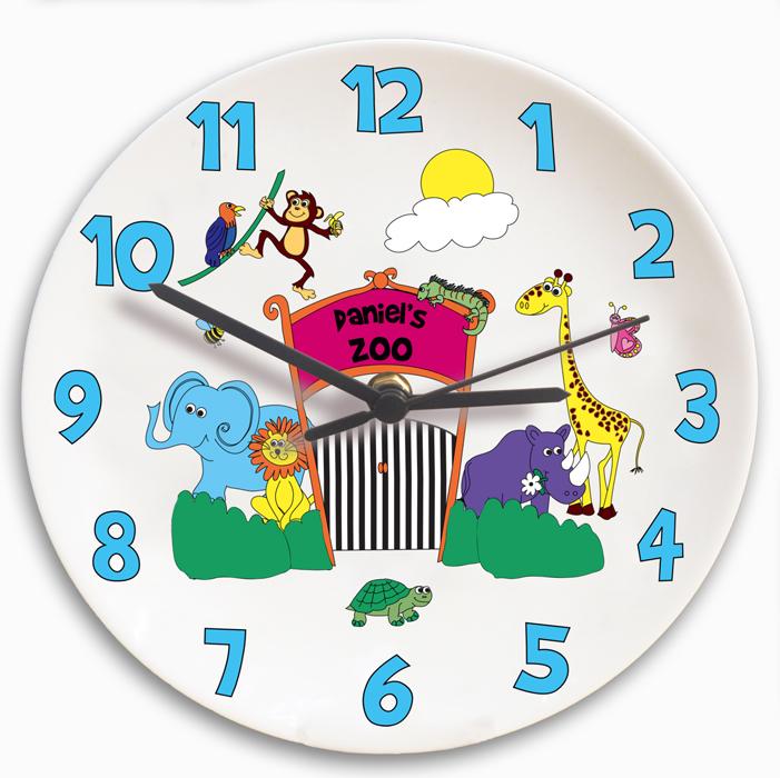 Personalised Kids Zoo Clock