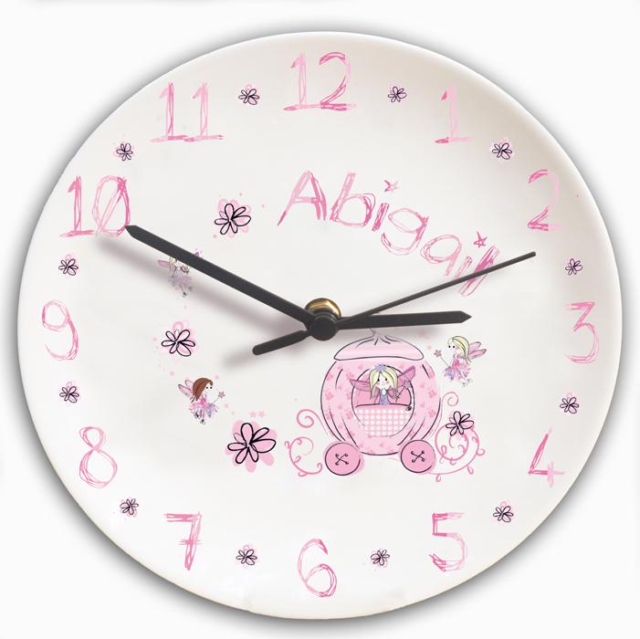 Pumpkin Fairy Personalised Clock