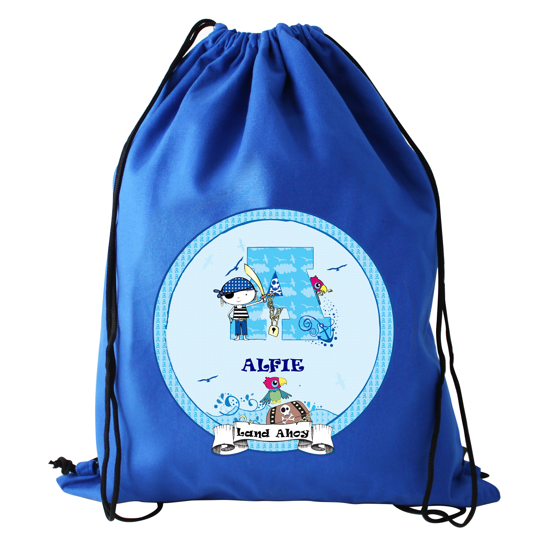 Pirate Letter Personalised School Bags