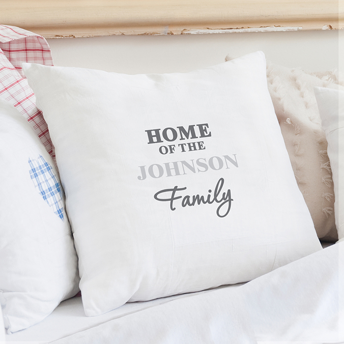Personalised Family Cushion Cover