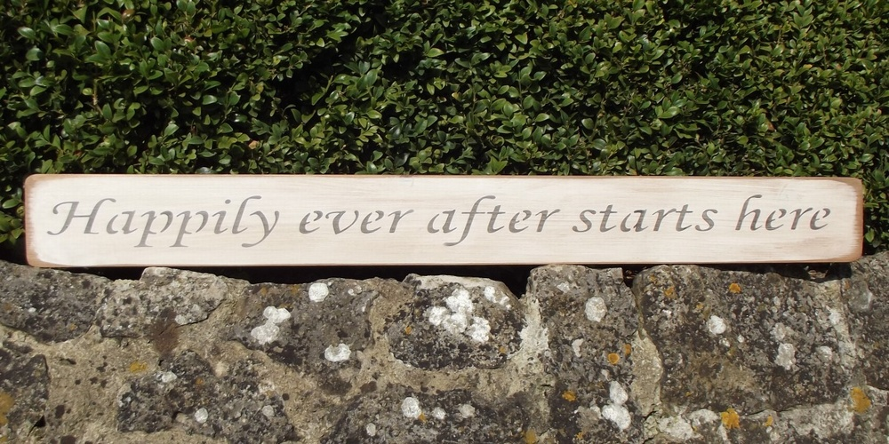 Happily Ever After Starts Here Sign