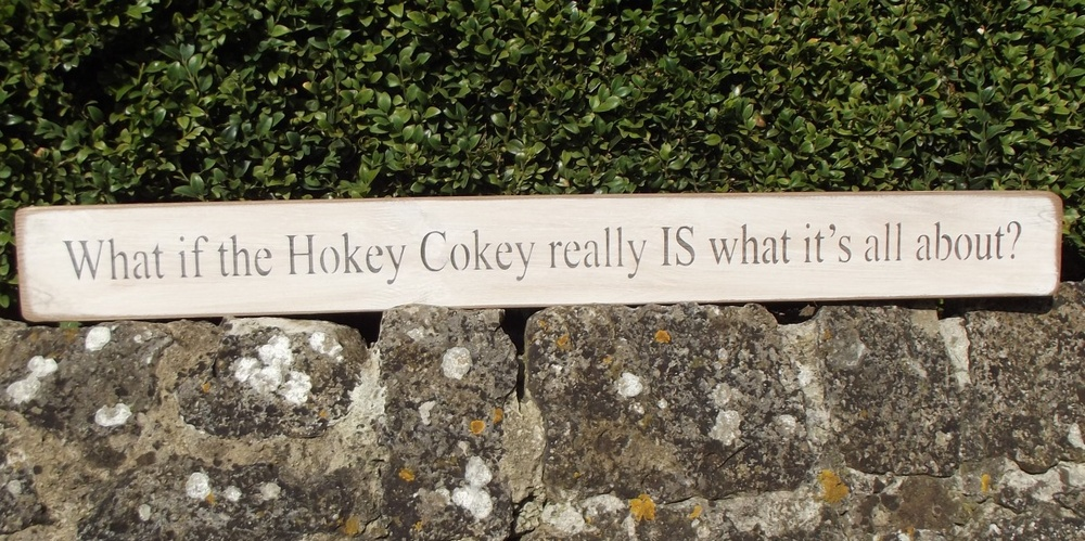 What if the Hokey Cokey really IS what it's all about Wooden Sign