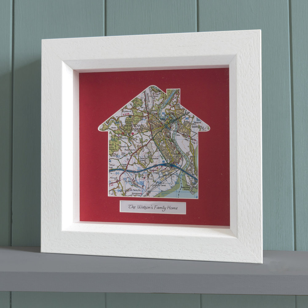 Personalised Framed Home Map Memory