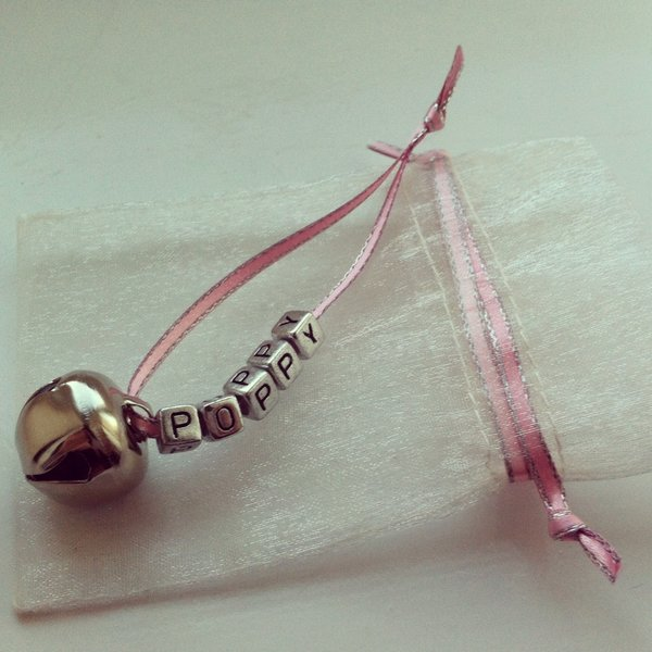 Personalised Baby Bell Charm
