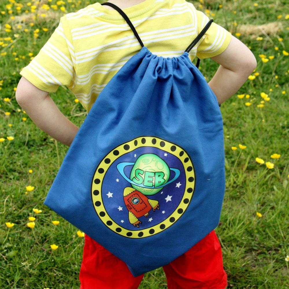 Space Personalised School Bag