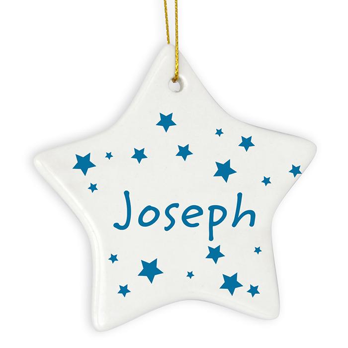 Personalised Star Decoration