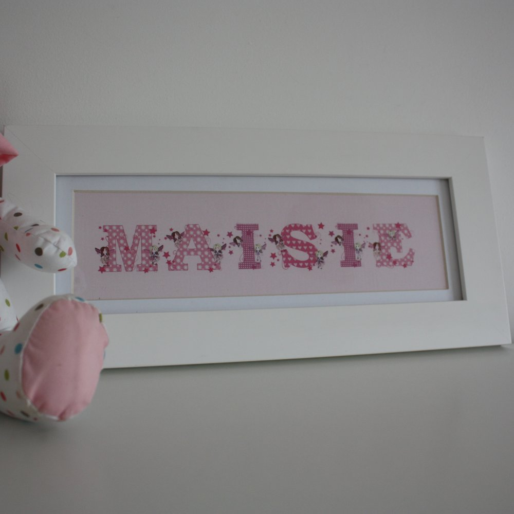 Fairy Letter Personalised Name Frame