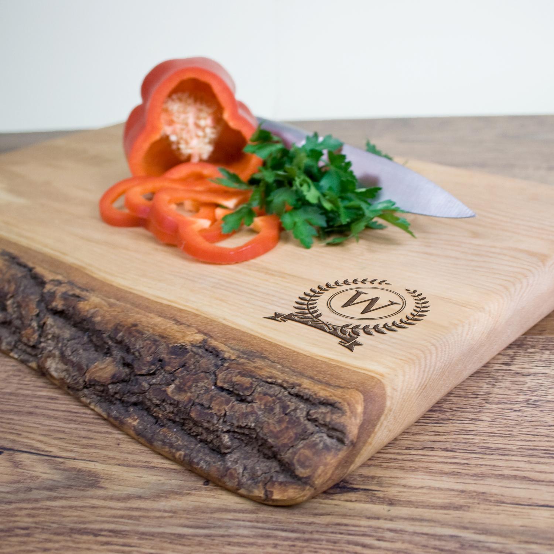 Personalised Rustic Welsh Ash Chopping Board