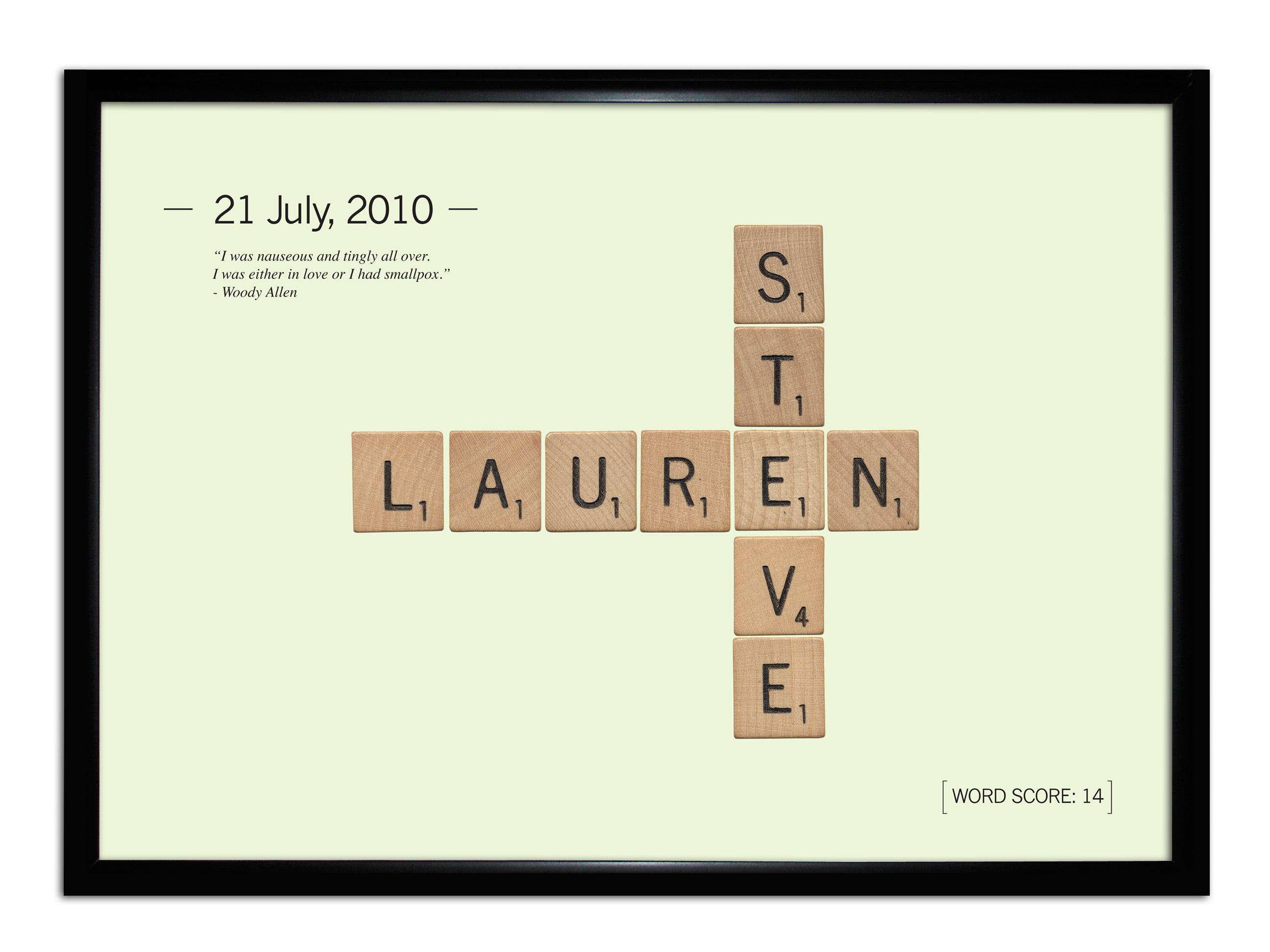 Personalised Love Scrabble Tile Poster
