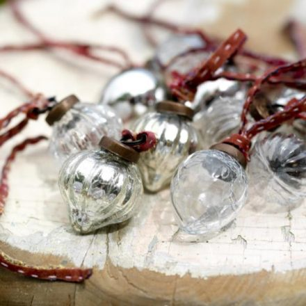 Small Glass Baubles - set of 12