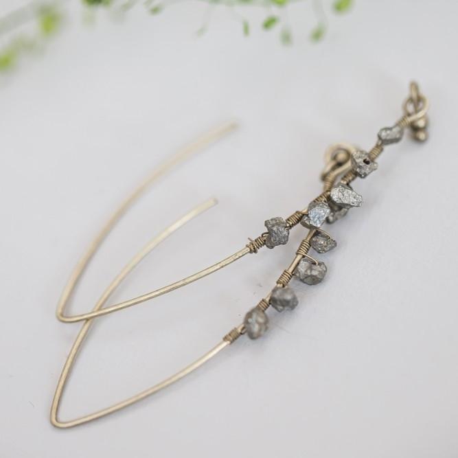Tutti & Co Pyrite Drop Earrings