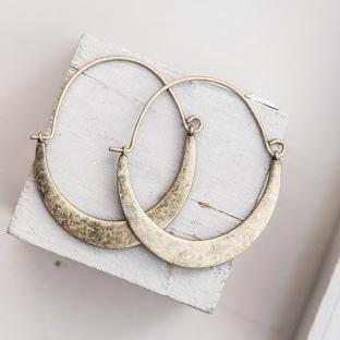 Tutti & Co Half Moon Hoop Earrings