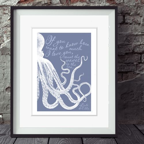 'Waves in the Sea' Personalised Print