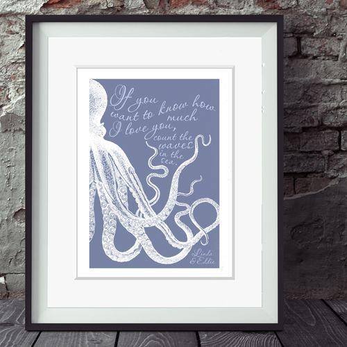 'Waves in the Sea' Personalised Print