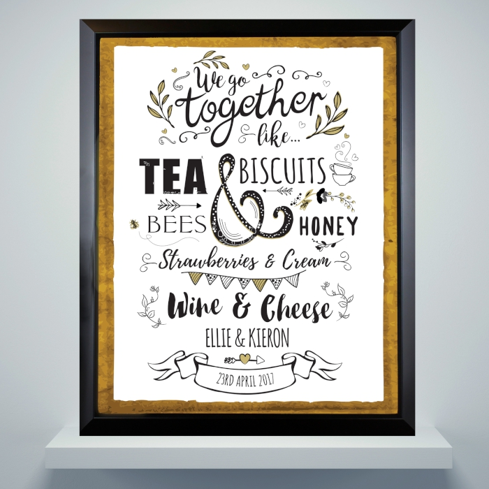 Personalised 'Couples' Framed Print