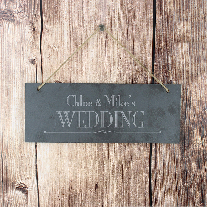 Personalised Wedding Slate Sign
