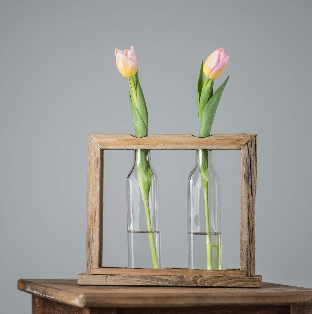 Wooden Frame Vases - Large