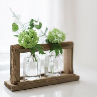 Wooden Frame Vases - Medium