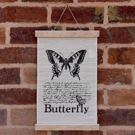 Butterfly Fabric Hanging Print