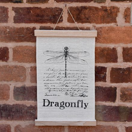 Dragonfly Fabric Hanging Print