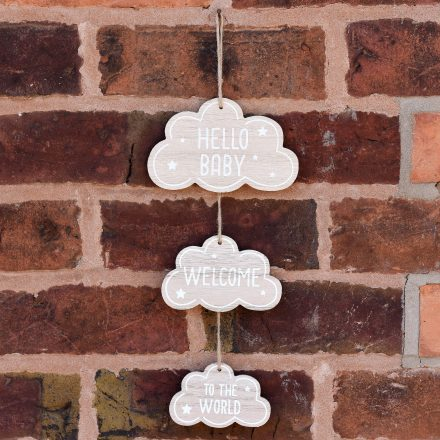 Cloud new baby sign gift