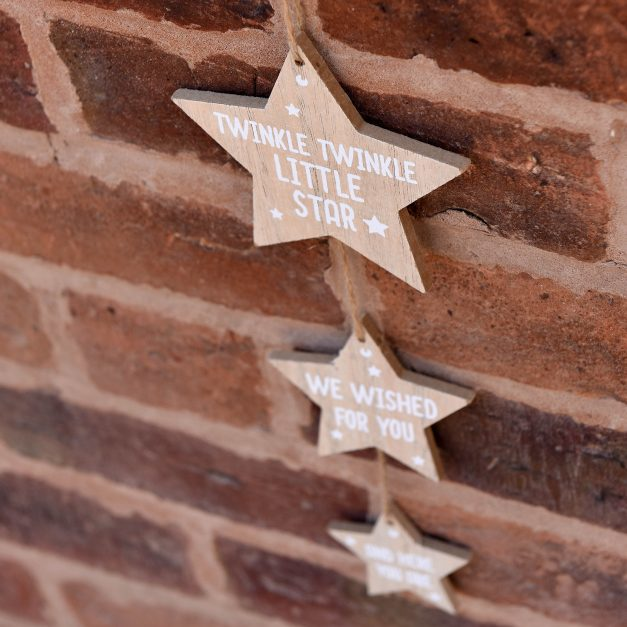 Star new baby hanging sign