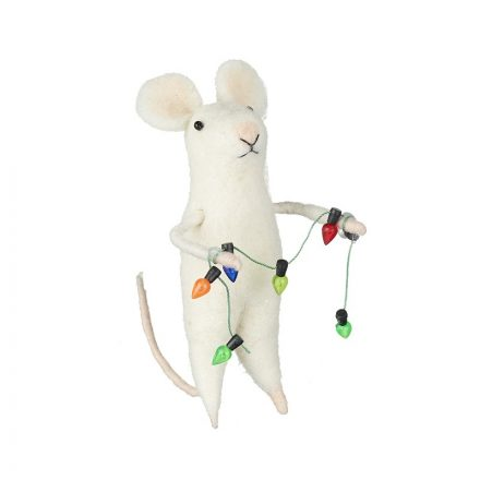 Christmas garland mouse