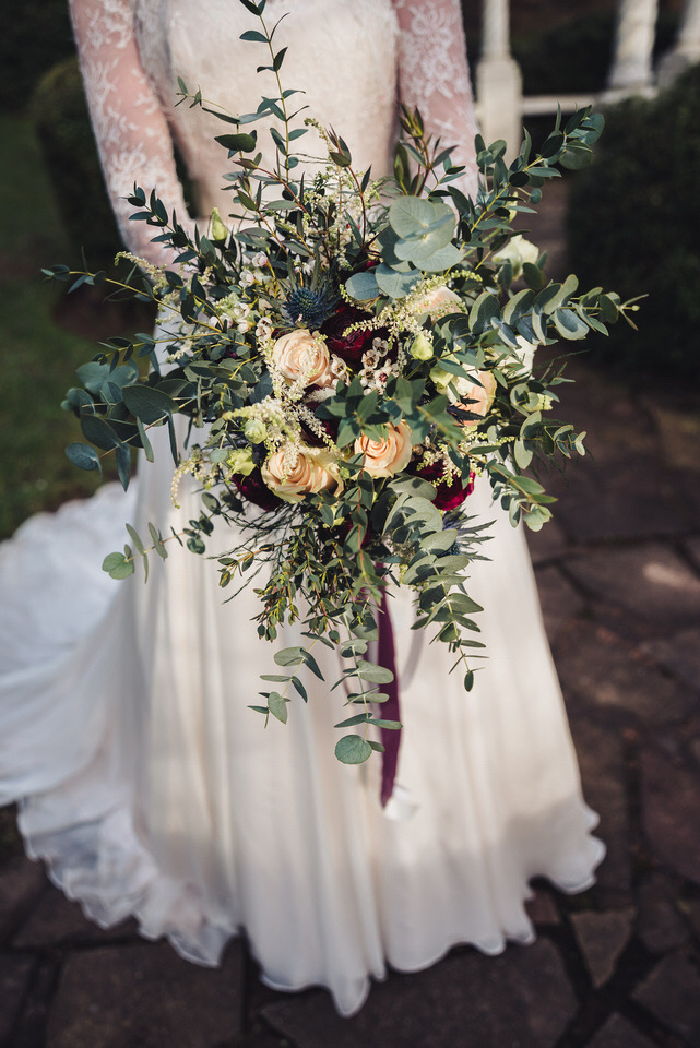 Bridal bouquet at The Mill Barns