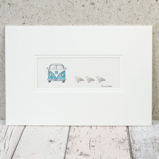 Penny Lindop Campervan with Seagulls Print