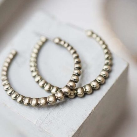 Tutti & Co Dotted Hoop Earrings