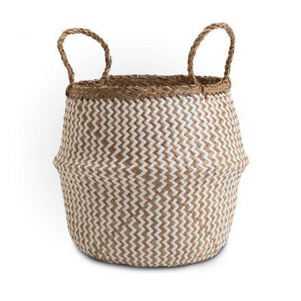 Deedy Seagrass Woven Basket