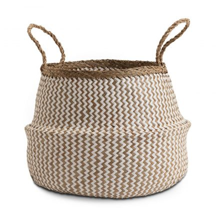 Deedy Seagrass Woven Basket Medium