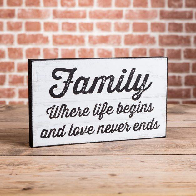 family where life begins plaque