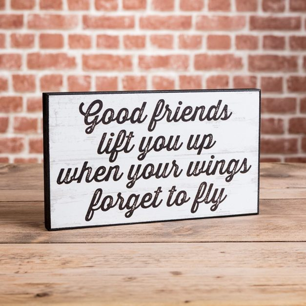 Good Friends Lift You Up Plaque